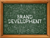 Brand Development - Hand Drawn on Green Chalkboard. Royalty Free Stock Photo