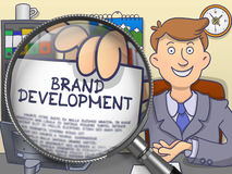 Brand Development through Lens. Doodle Concept. Royalty Free Stock Image