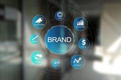Brand diagram concept on virtual screen. Awareness increase, Design, Marketing and advertising solution in Business. Brand diagram concept on virtual screen stock photo