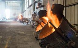 Brand dichte omhooggaand in Oven Stock Afbeeldingen