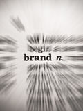 Brand Dictionary Word with Zoom Blur Focus effect Stock Photography