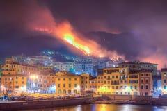 Brand door droogte wordt veroorzaakt die Royalty-vrije Stock Afbeeldingen