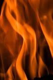 Brand in een open haard Royalty-vrije Stock Foto's