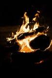 Brand in een open haard, super hoge resolutie Stock Foto
