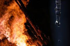 Brand en ijs Stock Afbeeldingen