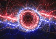 Brand en ijs het wervelende plasma lighrning Stock Afbeeldingen