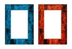 Brand en ijs Kader in antieke stijl 3D geef terug Stock Afbeeldingen