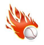 Brand en van het de balsymbool van het vlieghonkbal de witte kleur Royalty-vrije Stock Afbeelding