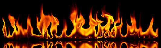 Brand en vlammen.