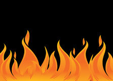 Brand en vlammen stock illustratie