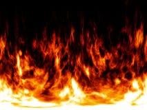 Brand en vlammen abstracte achtergrond Stock Fotografie