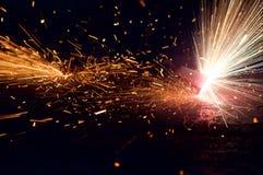 Brand en vonken Stock Afbeelding