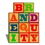 Brand equity (isolato su fondo bianco) Immagine Stock Libera da Diritti