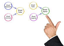 Brand Equity. Presenting Diagram of Brand Equity Stock Image