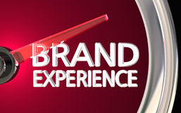 Brand Experience Speedometer Customer Satisfaction 3d Illustrati Royalty Free Stock Images
