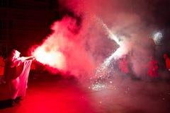 brand för ängeljäkeldrake Arkivfoton