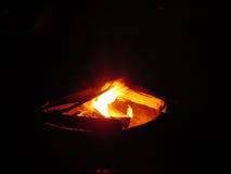 brand för 2 läger Arkivfoton
