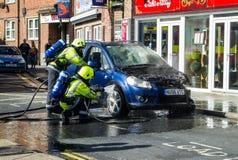 Brand för bil för redskap för brandservice Royaltyfri Fotografi
