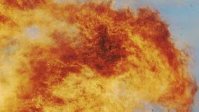 Brand för den lösa apelsinen flammar med värmeogenomskinlighet arkivfilmer
