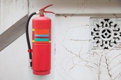 brand för eldsläckare för borggården för brännskadakonstanten ständigt fann hot för tempel för shan för park för fararökelselianh Arkivbild