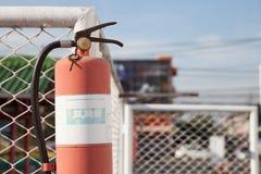 brand för eldsläckare för borggården för brännskadakonstanten ständigt fann hot för tempel för shan för park för fararökelselianh Royaltyfri Foto