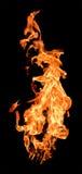 brand flamm high att lyfta Arkivfoton