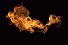 Brand flammar samlingen Arkivfoto