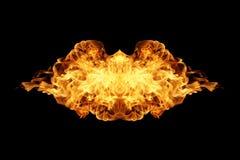 Brand flammar samlingen som isoleras på svart royaltyfri illustrationer