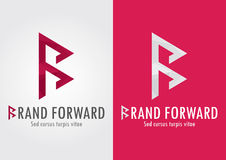 Brand Forward. B letter with a forward symbol to s Royalty Free Stock Photos