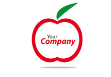 Brand. Generic brand for business communication apple Royalty Free Stock Images