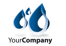 Brand. Generic brand for business communication water Stock Images