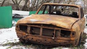 In brand gestoken auto Stock Afbeelding
