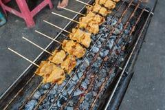 In brand gestoken Varkensvlees Stock Fotografie