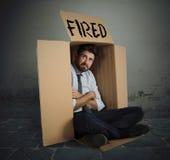 In brand gestoken zakenman royalty-vrije stock foto's