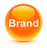 Brand glassy orange round button Royalty Free Stock Images