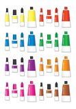 A Colorful Liquid Glue in shapes vector illustration