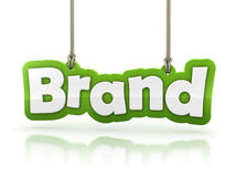 Brand green word text  on white background Stock Photos