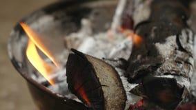 Brand het Branden in Langzame Motie stock footage