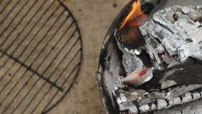 Brand het Branden in Langzame Motie stock videobeelden