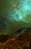 In brand heuvels Royalty-vrije Stock Afbeelding