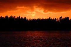 Brand i himlen arkivfoto