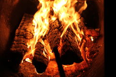 Brand i mitt hus Royaltyfri Foto