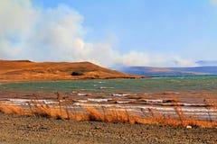 Brand i Republiken Sydafrika Arkivbilder