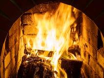Brand i stenspis royaltyfria bilder