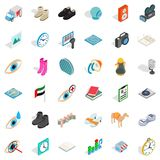 Brand icons set, isometric style. Brand icons set. Isometric style of 36 brand vector icons for web isolated on white background Stock Photo