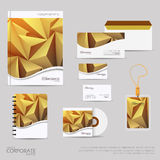 Brand identity company style template demonstrated on office supplies and stationery for businesses. Brand identity company style template demonstrated on mobile Royalty Free Stock Photo