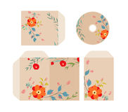 Brand identity florals retro Stock Photography