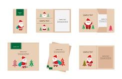 Brand identity santa claus christmas Stock Image
