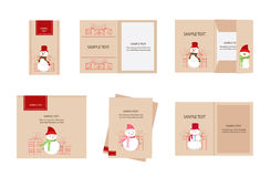 Brand identity snowman christmas Royalty Free Stock Images