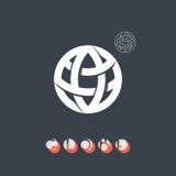 Brand identity symbol, globe icon. Royalty Free Stock Photos